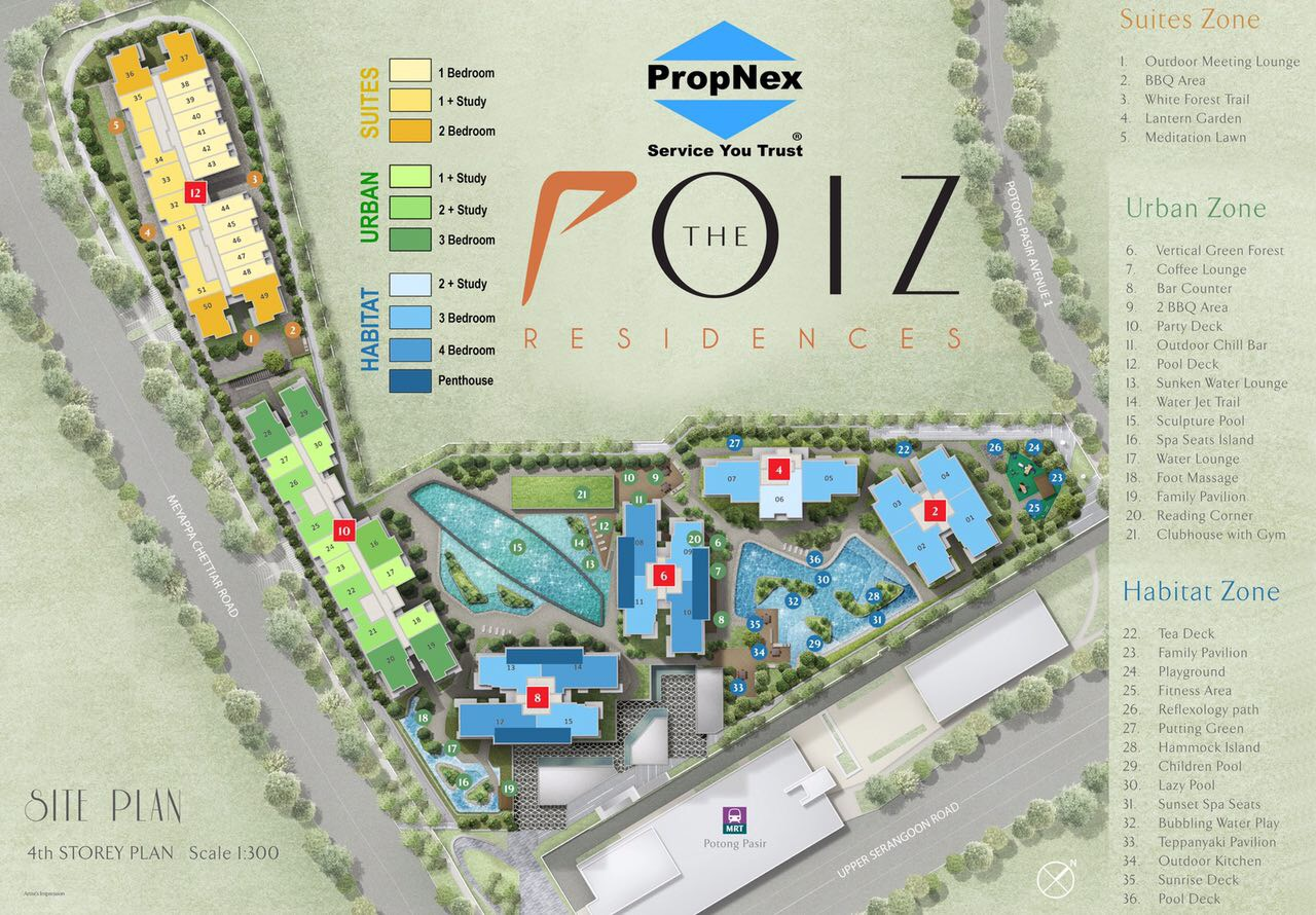 Poiz Site Plan coloured 2